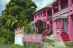 Caribbean villa in St Vincent, Caribbean Royalty Free Stock Image