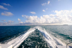Caribbean Wake Royalty Free Stock Photos