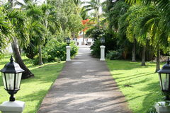 Caribbean walkway Stock Image