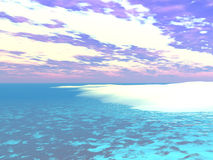 Caribbean Water's Edge - 3D Illustration. A computer generated 3D landscape Stock Photo