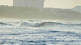Caribbean waves in slow-motion telephoto, Dominican Republic stock video