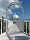 Caribbean wedding gazebo Royalty Free Stock Image