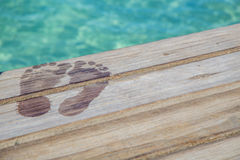 Caribbean Wet Feet Royalty Free Stock Image