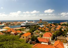 The Caribbean. Willemstad, capital of the Island Of Curacao. The port of the Island Of Curacao. It attracts hundreds of thousands of passengers of cruise ships Stock Photos