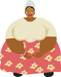 Caribbean woman. Overweight Caribbean woman dressed in flower skirt Stock Photos