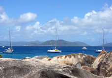Caribbean Yachts Royalty Free Stock Images