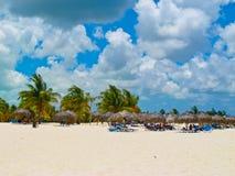 caribbeans缓慢地cayo古巴playa sirena 免版税图库摄影