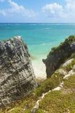 Caribbena sea cliff view stock photo