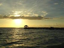 Caribe Dominican Republic. Crystalline Caribe Sea Waters In Dominican Republic royalty free stock photo