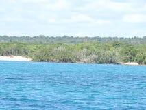 Caribe Dominican Republic. Crystalline Caribe Sea Waters In Dominican Republic stock image