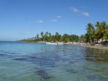 Caribe Dominican Republic. Crystalline Caribe Sea Waters In Dominican Republic stock photography