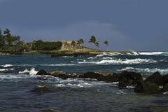 从Caribe hilton,圣胡安,波多黎各的Escambron电池 免版税库存照片