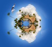 Caribe Planet of Punta Cana, Miniature Planet of Punta Cana, Dominican Republic. Caribe Planet of Punta Cana - Miniature Planet of Punta Cana, Dominican royalty free stock image