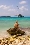 Caribean meisje Stock Foto
