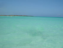 Caribean sea. Blue caribean sea Royalty Free Stock Photos
