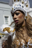 A Caribean women at Notting Hill carnival Stock Photo