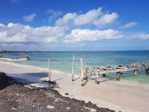Caribic de droomzand van Cancunmexico Stock Foto