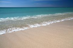 Caribic sand beach Royalty Free Stock Images
