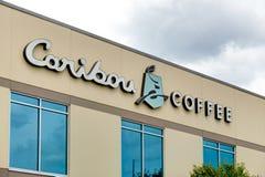 Caribou Coffee Corporate Headquarters and Logo. Stock Photo