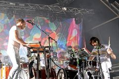 Caribou electronic music band live performance at Primavera Sound 2015 Royalty Free Stock Images