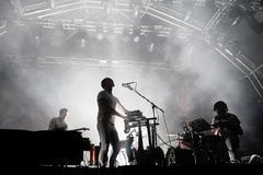 Caribou electronic music band live performance at Primavera Sound 2015 Stock Photos