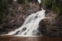 Caribou Falls Waterfall Royalty Free Stock Images