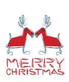 caribous Χριστούγεννα Στοκ Φωτογραφίες