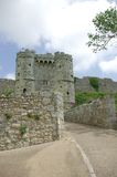 Caribrooke Castle 2. The gatehouse of Carisbrooke Castle on the Isle of Wight England royalty free stock photo