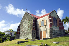 The Caribs. The Island Of Antigua. The old Church. Stock Images