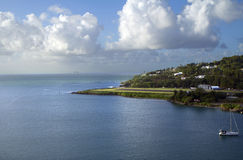 The Caribs. The Island Of Saint Lucia.The runway of the airport. Stock Photography