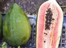 Carica papaya Stock Photo