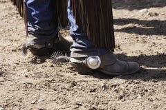 Caricamenti del sistema & denti cilindrici del cowboy Fotografia Stock