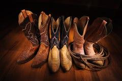 Caricamenti del sistema del cowboy Immagini Stock