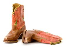 Caricamenti del sistema del cowboy Fotografia Stock