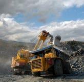 Caricamento del minerale ferroso Fotografia Stock