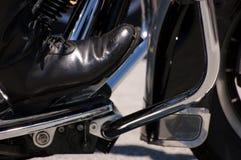 Caricamento del sistema del motociclista Fotografia Stock