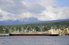 Caricamento della nave del trasporto Fotografia Stock