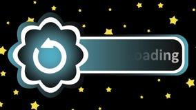 Caricamento della pioggia e dell'icona illustrazione di stock
