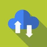 Caricamento di programmi oggetto della nuvola, progettazione piana fotografia stock libera da diritti