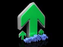 Caricare i dati binari Fotografie Stock