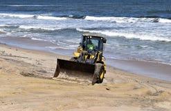 Caricatore anteriore sulla spiaggia di Vilano, Florida dopo l'uragano Matthew Fotografia Stock
