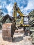 Caricatore dell'escavatore a cucchiaia rovescia Fotografia Stock