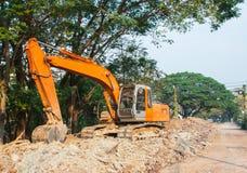 Caricatore dell'escavatore a cucchiaia rovescia Fotografia Stock Libera da Diritti