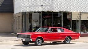 Caricatore di 1967 Dodge, crociera di sogno di Woodward, MI Fotografia Stock Libera da Diritti