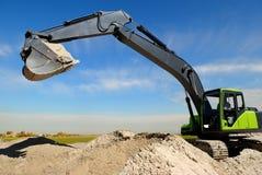 Caricatore di escavatore nel sandpit Fotografia Stock