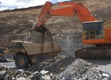 Caricatore di estrazione mineraria Fotografia Stock