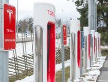 Caricatore di potere di Tesla fotografia stock