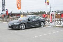 Caricatore di potere di Tesla fotografie stock libere da diritti