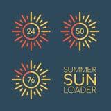 Caricatore di Sun di estate Barre dei colori Fotografia Stock