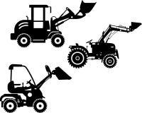 Caricatori del manzo di scivolo Macchine della costruzione pesante Immagine Stock Libera da Diritti